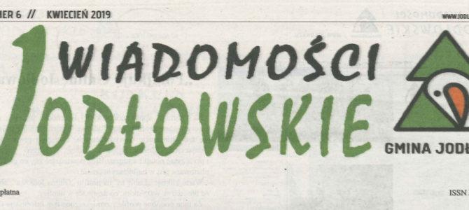 """Artykuł w gazecie """"Wiadomości Jodłowskie"""" o naszej szkole"""